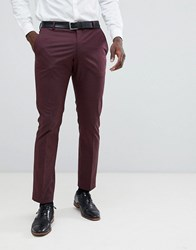 Selected Homme Slim Fit Suit Trouser In Damson Red