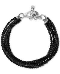 King Baby Studio Black Spinel Multi Strand Toggle Bracelet