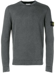 Stone Island Fitted Long Sleeve Sweater Men Wool Xl Green