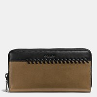 Coach Rip And Repair Accordion Wallet In Sport Calf Leather Fatigue Black