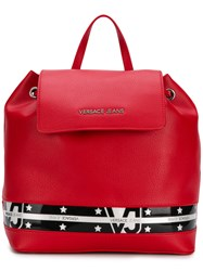 Versace Jeans Star Stripe Backpack Red