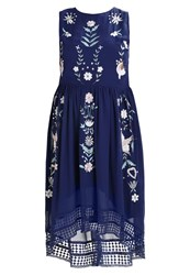 Frock And Frill Curve Maxi Dress Navy Dark Blue