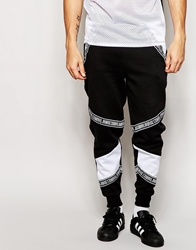 Criminal Damage Joggers With Taping Black