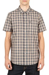 Volcom Men's Plaid Sport Shirt Sandstorm