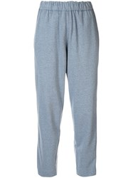 Bassike Canvas Track Trousers Blue