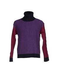 Brooksfield Knitwear Turtlenecks Men Purple