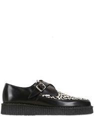 Underground 30Mm Paul Leather Creepers Black White