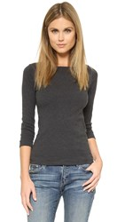 Three Dots 3 4 Sleeve British Tee Charcoal
