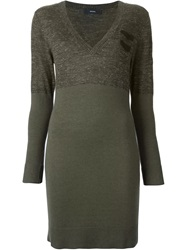 Diesel Fitted Sweater Dress Green