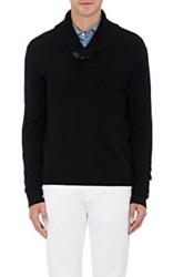 Barneys New York Women's Shawl Collar Sweater Black