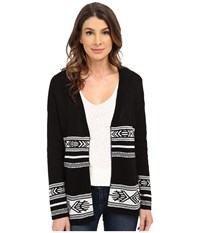 Pendleton Quinn Cardigan Black Ivory Women's Sweater