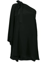 Msgm Single Sleeve Shift Dress Black
