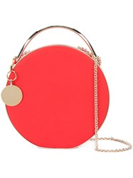 Eddie Borgo Chain Strap Round Clutch Red