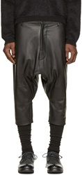 Alexandre Plokhov Black Leather Shorts