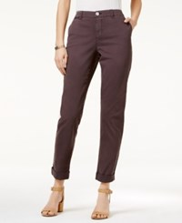 Styleandco. Style Co. Chino Boyfriend Pants Only At Macy's Slate Grey