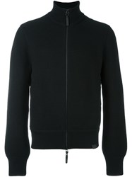 Emporio Armani Roll Neck Zipped Jacket Black