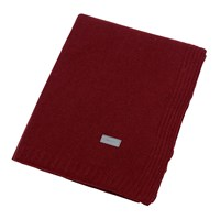 Gant Light Cable Knit Throw 130X180cm Winter Wine