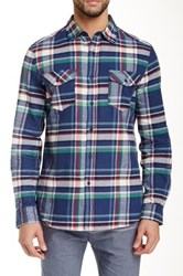 Micros Salem Long Sleeve Plaid Shirt Blue
