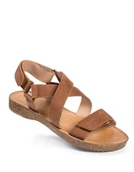Me Too Adora Leather Strappy Sandals Brown