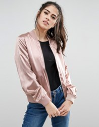 Only Starly Satin Bomber Jacket Maple Sugar Pink