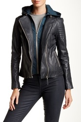 Soia And Kyo Moto Leather Jacket Green