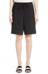 St. John Women's Collection Soft Drape Suiting Shorts