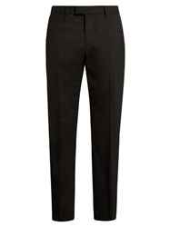 Oamc Compression Slim Leg Wool Trousers Black