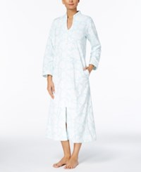Charter Club Textured Zip Front Long Robe Created For Macy's Windy Bay