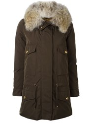 Moncler 'Margarita' Coat Green