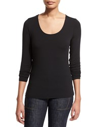 Elie Tahari Netta Long Sleeve Tee Women's Black