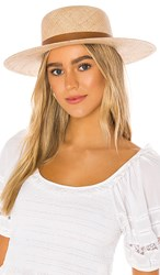Janessa Leone Kerry Hat In Tan. Natural