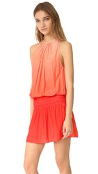 Ramy Brook Ombre Paris Sleeveless Dress Nude To Spring Red