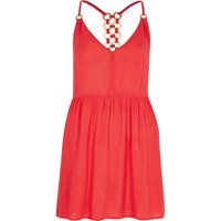 River Island Orange Ring Back Cami Swing Dress