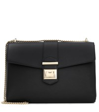 Jimmy Choo Marianne Leather Shoulder Bag Black