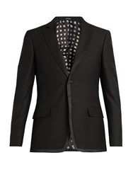 Alexander Mcqueen Single Breasted Wool Blend Blazer Black