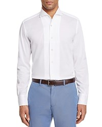 Canali Textured Knit Regular Fit Button Down Shirt White