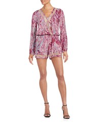 Jessica Simpson Printed Knit Romper Legacy