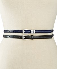 Styleandco. Style And Co. 2 For 1 Patent Lizard Embossed Belts Only At Macy's