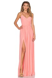 Amanda Uprichard Rio Maxi Dress Peach