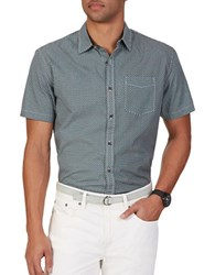 Nautica Slim Fit Geo Short Sleeve Shirt Poolside Aqua