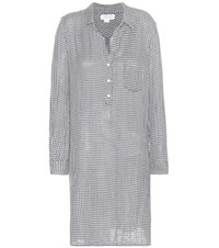 Velvet Allison Gingham Cotton Shirt Dress Blue