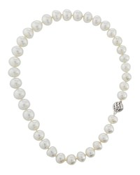 Belpearl 14K White South Sea Pearl Swirl Necklace