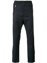 Just Cavalli Casual Straight Trousers Blue