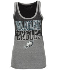 5Th And Ocean Women's Philadelphia Eagles Color Block Tank Gray