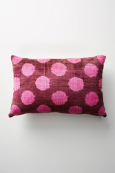 Anthropologie Patterned Velvet Pillow Pink