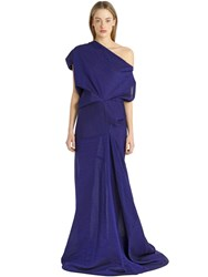 Michael Sontag Asymmetric Cotton And Silk Crepon Dress