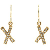 Cachet Cross Swarovski Crystal Drop Earrings Gold
