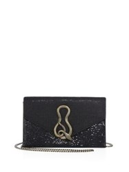Whiting And Davis Serpent Structured Clutch Black