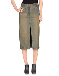 Patrizia Pepe Denim Skirts Blue
