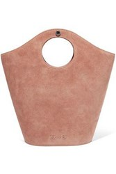 Elizabeth And James Paneled Leather Suede Tote Antique Rose